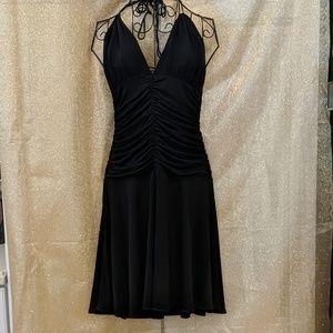 EUC Bebe little black Halter dress - M